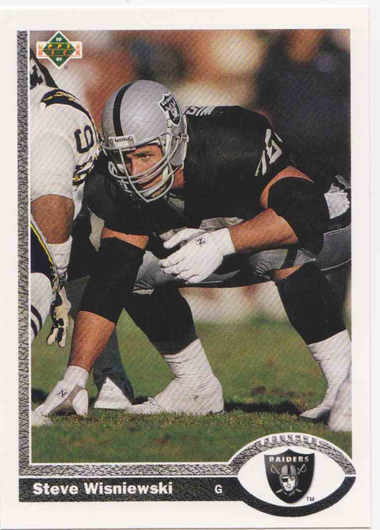 1991 Upper Deck Steve Wisniewski #429 card front image
