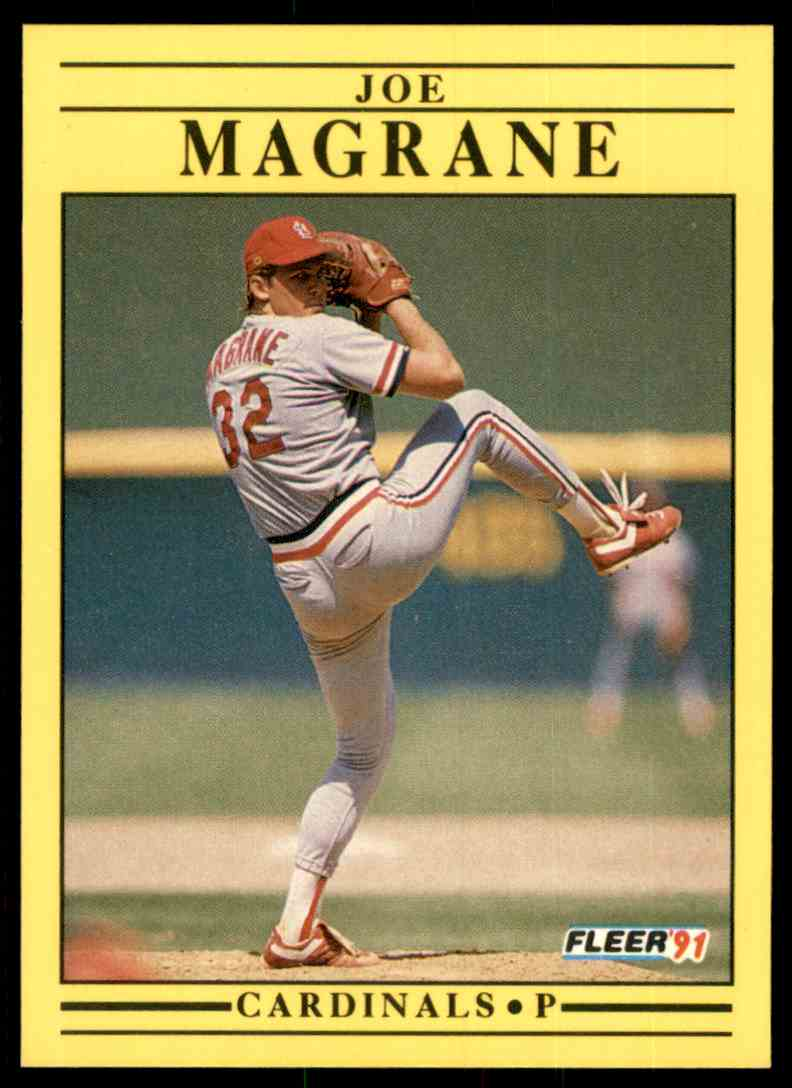 1991 Fleer Joe Magrane #638 card front image