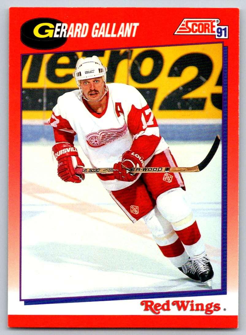 1991-92 Score Canadian Bilingual Gerard Gallant #34 card front image