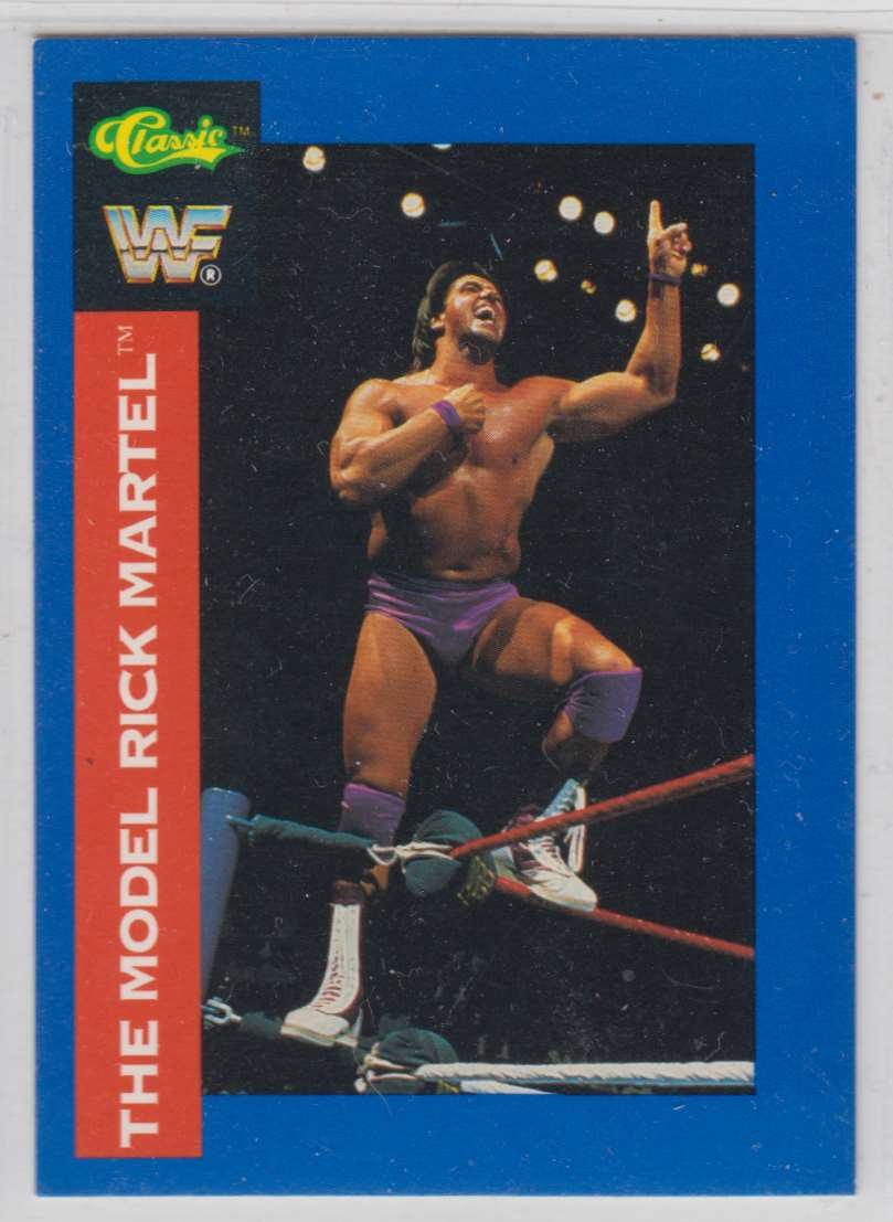 1991 Classic WWF Superstars The Model Ricky Martel #8 card front image