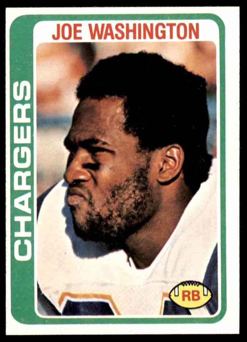 1978 Topps Football Joe Washington #387 card front image
