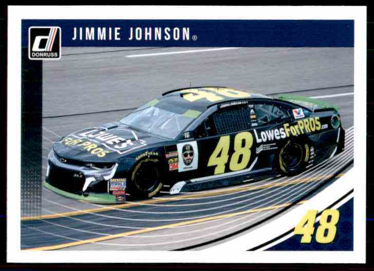 2019 Donruss Jimmie Johnson #86 card front image