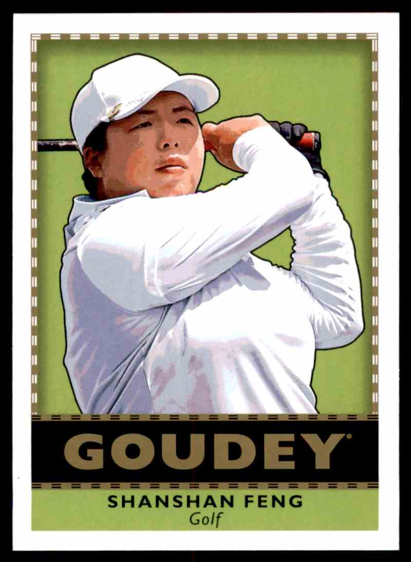 2018 UD Goodwin Champions Goudey SP Shanshan Feng #G30 card front image