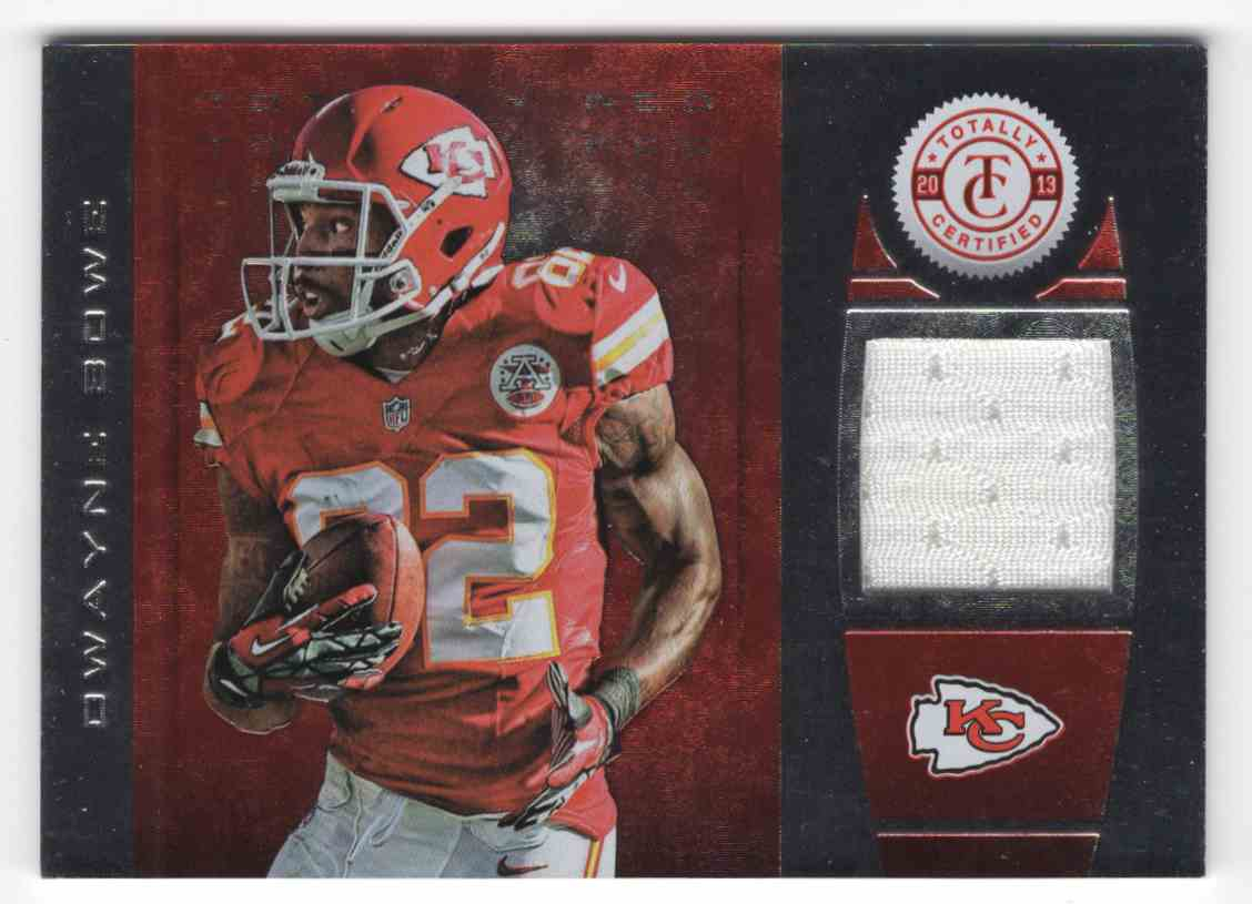 2013 Totally Certified Red Materials Dwayne Bowe #42 card front image