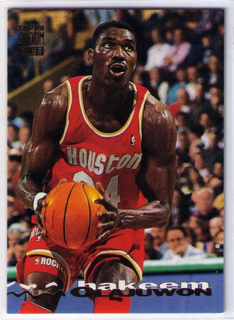 1993-94 Topps Stadium Club Hakeem Olajuwon #89 card front image