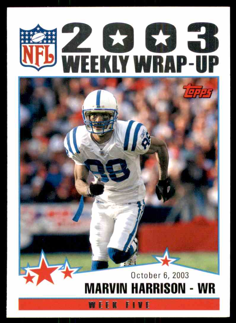 2004 Topps Marvin Harrison Ww #295 card front image
