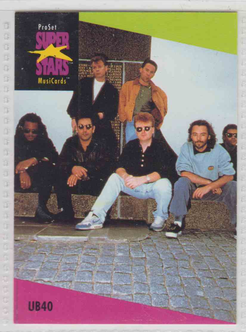 1991 Pro Set SuperStars MusiCards Ub40 #102 card front image