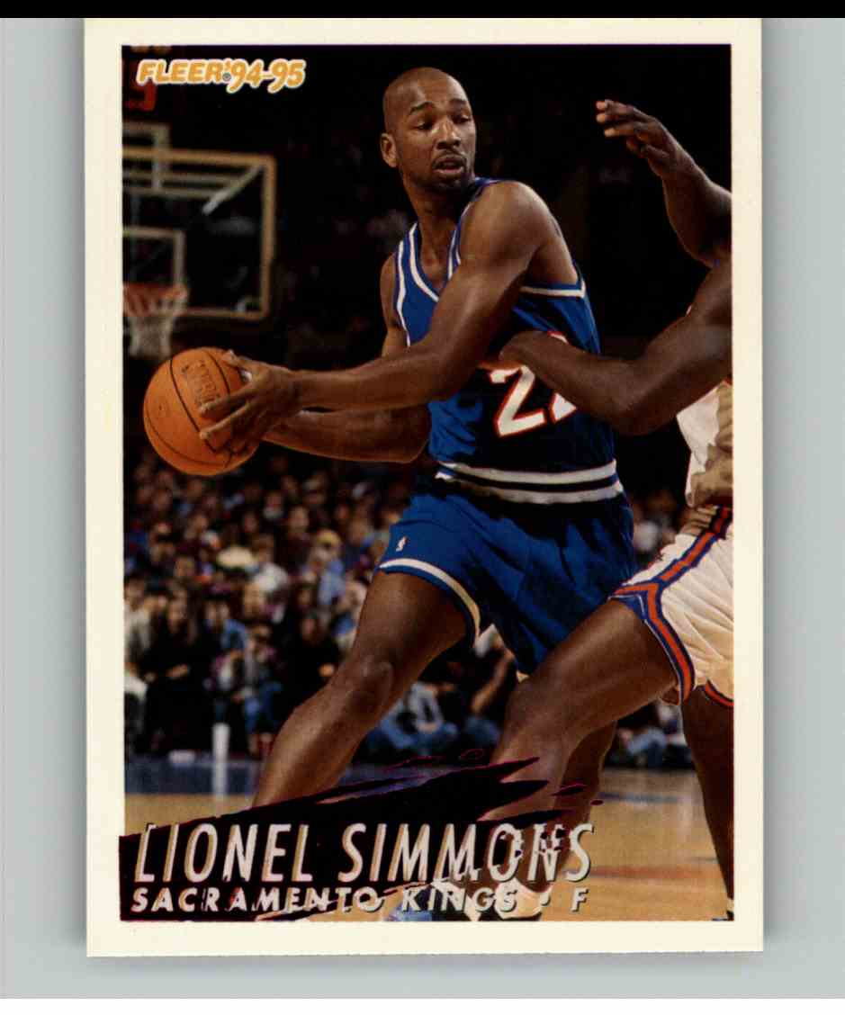 1994-95 Fleer Lionel Simmons #196 card front image