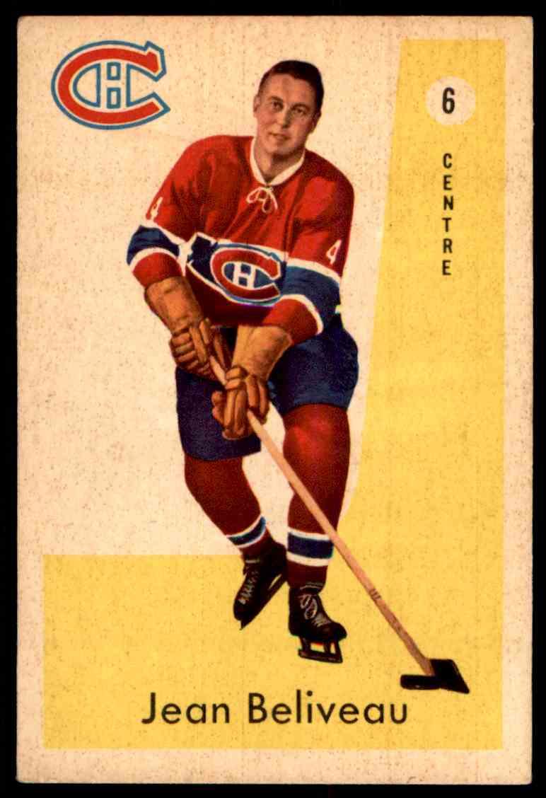 1959-60 Parkhurst Jean Béliveau #6 card front image