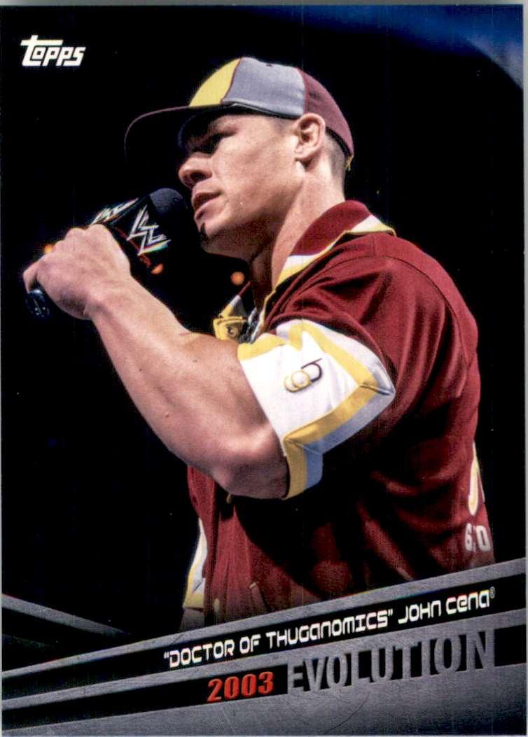 "2018 Topps Wwe Evolution ""Doctor Of Thuganomics"" John Cena #E24 card front image"