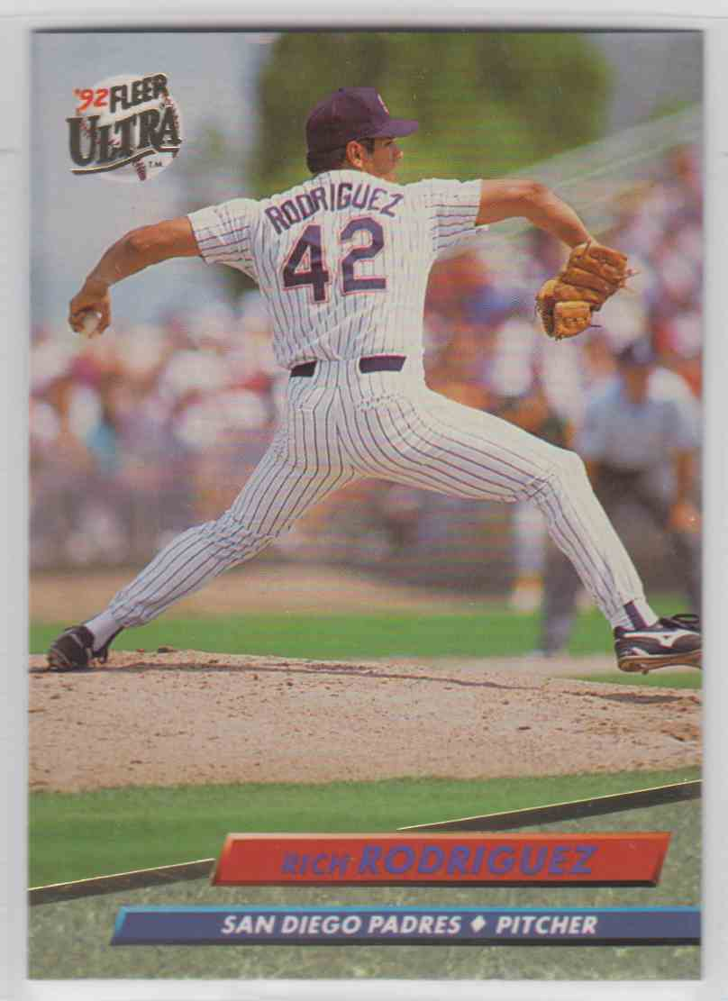 1992 Fleer Ultra Rich Rodriguez #581 card front image
