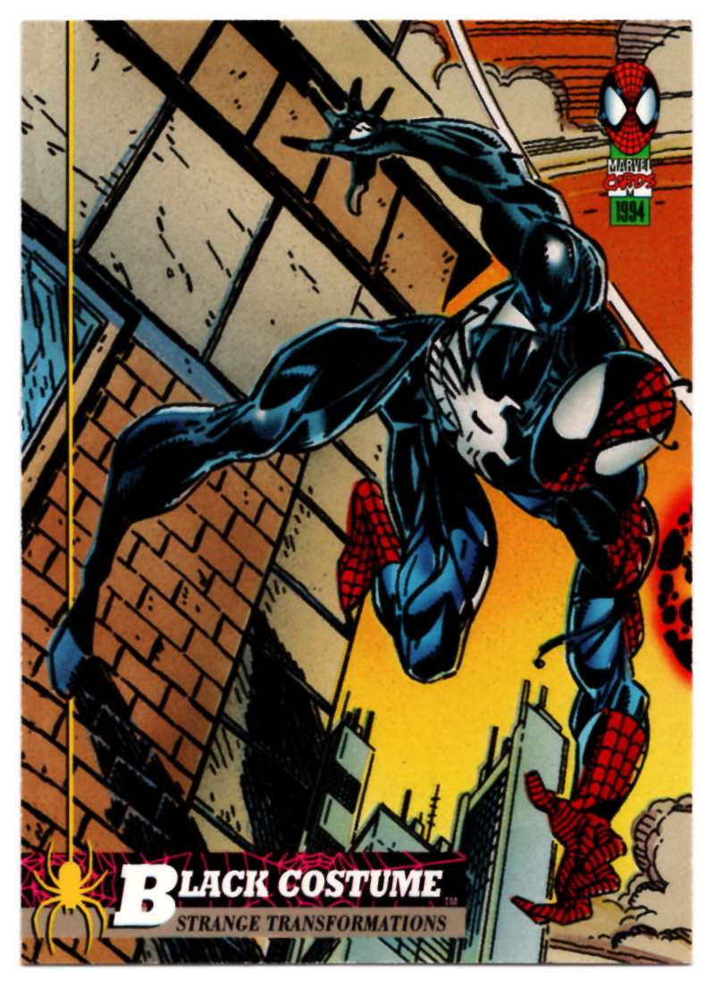 1994 Amazing Spider-Man Black Costume #19 card front image