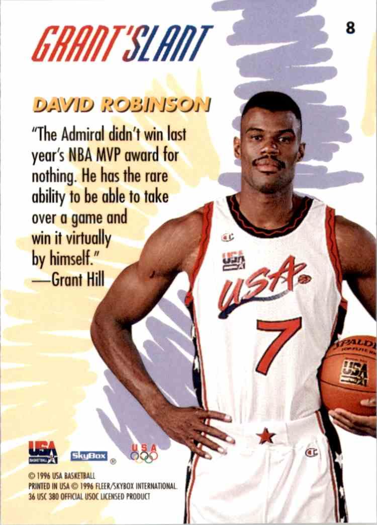 1996-97 SkyBox USA David Robinson Gs #8 card back image