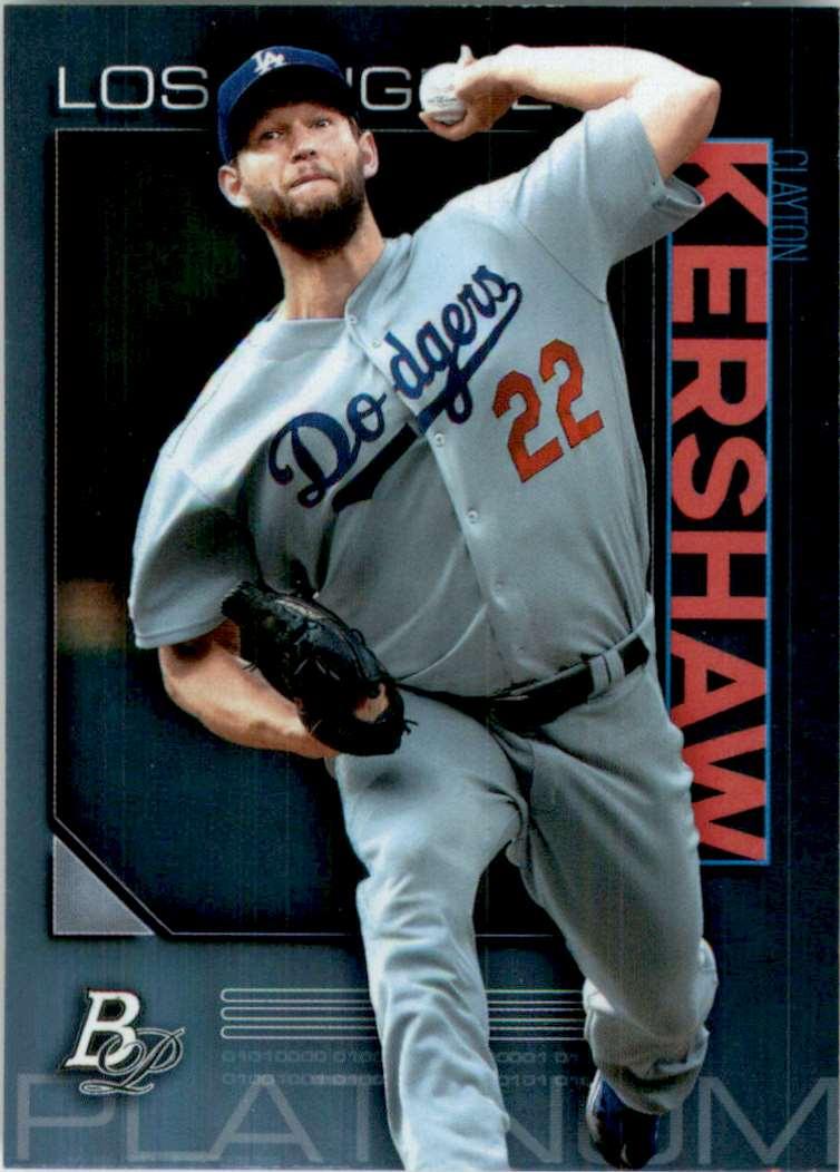 2020 Bowman Platinum Clayton Kershaw #25 card front image
