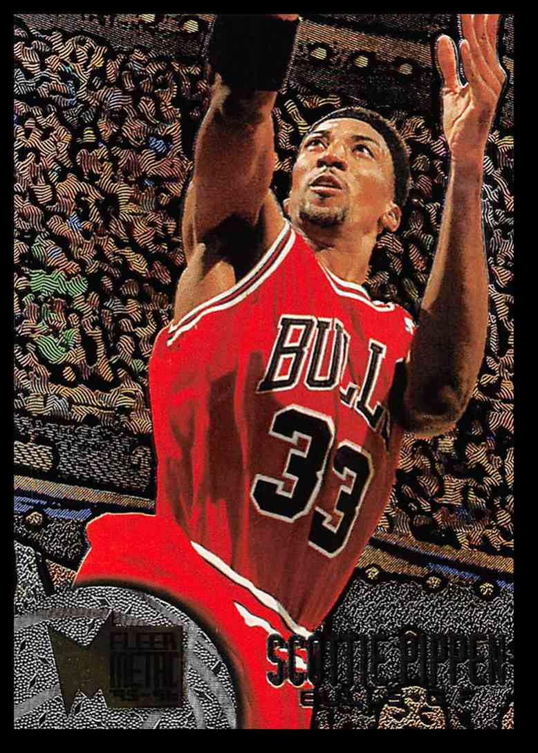 1995-96 Fleer Fleer Metal Scottie Pippen #15 card front image