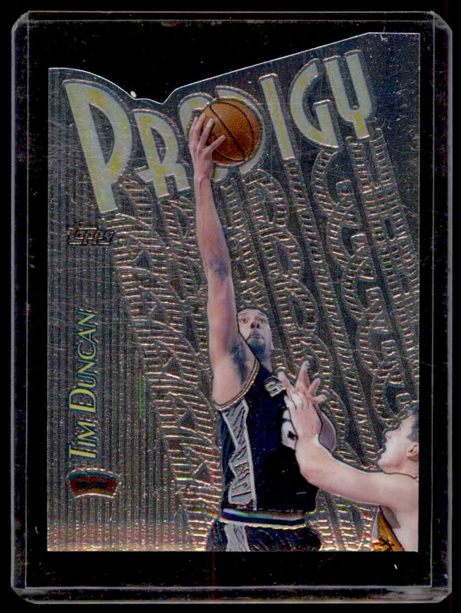 1999-00 Topps Prodigy Tim Duncan #PR8 card front image