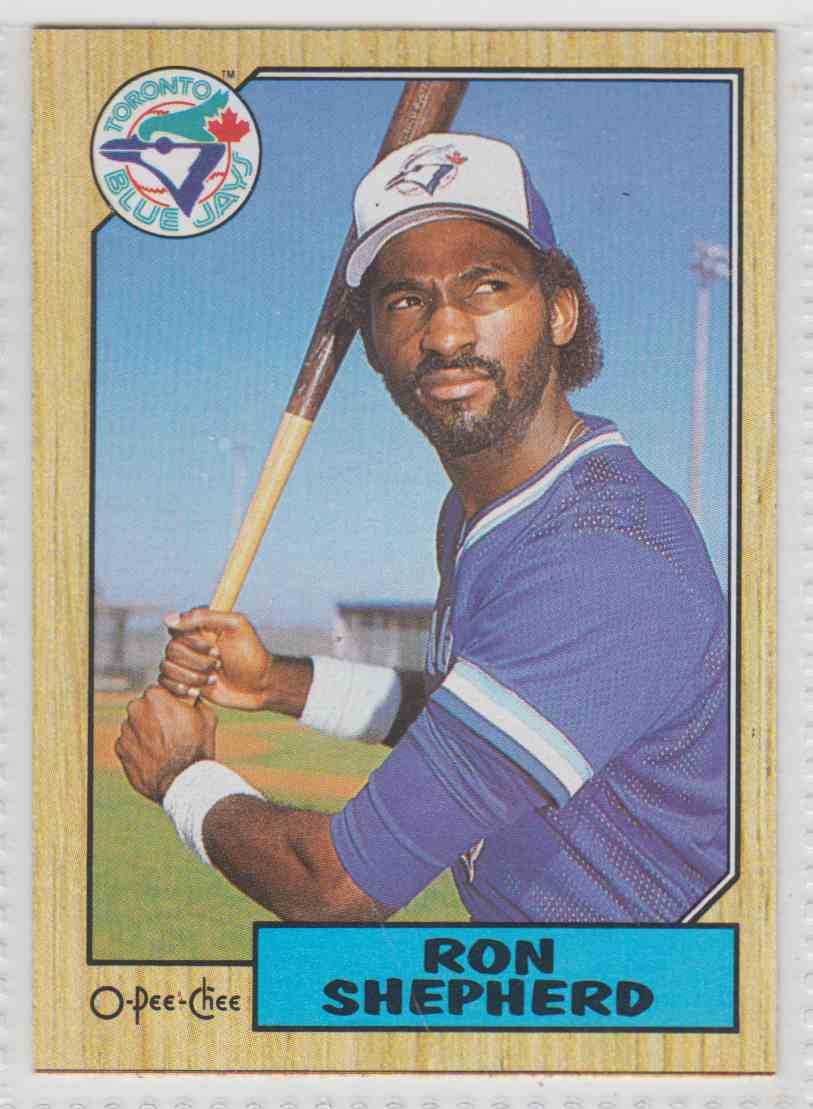 1987 O-Pee-Chee Ron Shepherd #117 card front image