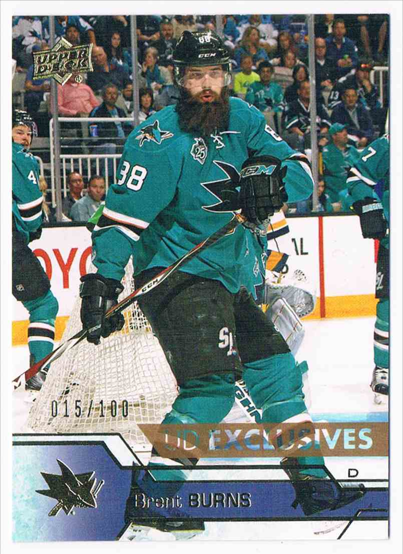 2016-17 Upper Deck UD Exclusives Brent Burns #149 card front image