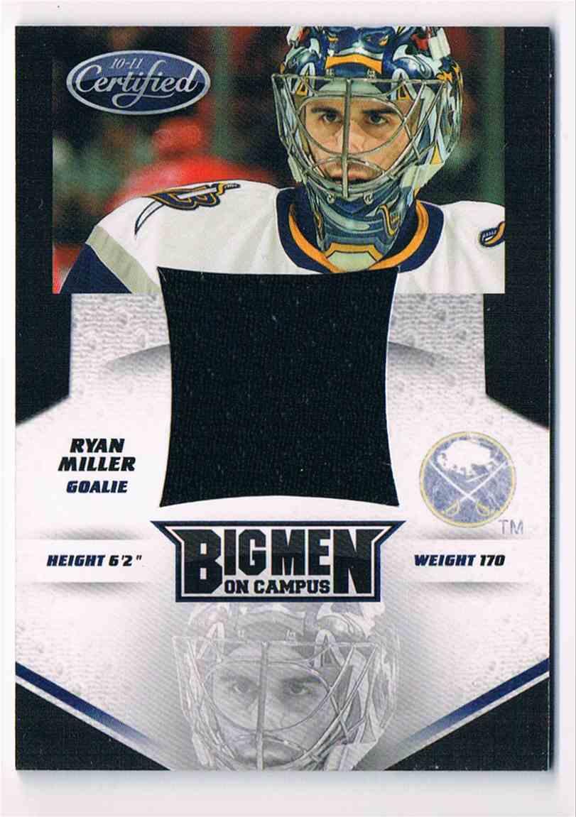2010-11 Panini Certified Big Men On Campus Ryan Miller #7 card front image