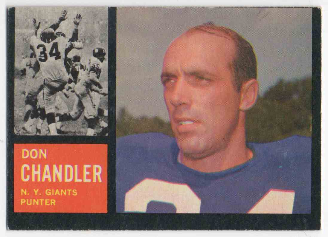 1962 Topps Don Chandler #107 card front image