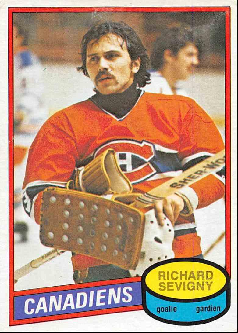 1980-81 O-Pee-Chee Richard Sevigny #385 card front image