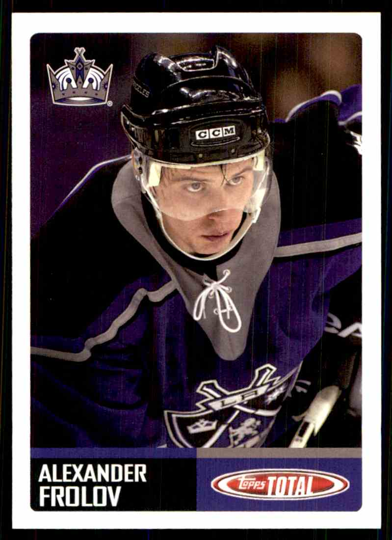 2002-03 Topps Total Alexander Frolov #416 card front image