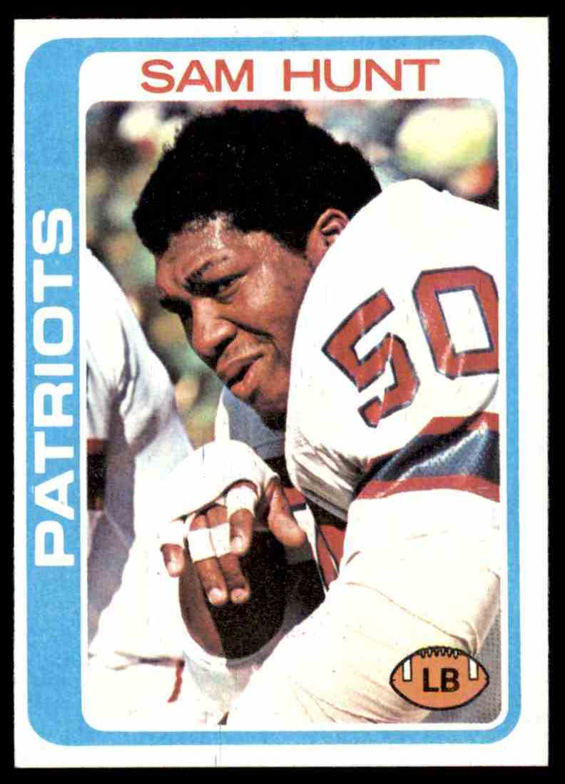 1978 Topps Football Sam Hunt #461 card front image