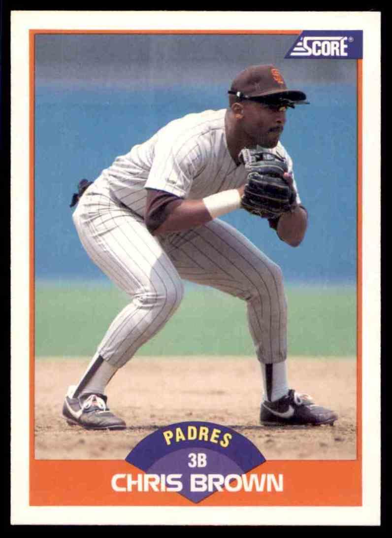 1989 Score Regular Chris Brown #369 card front image