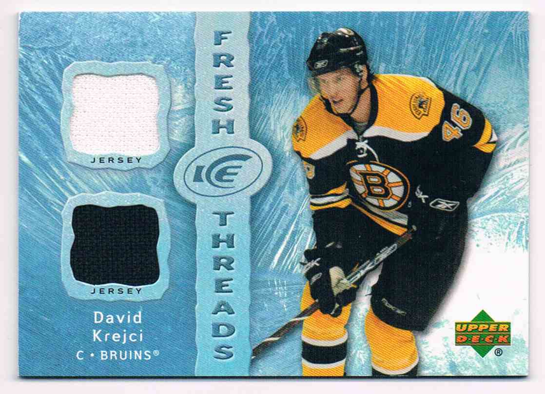 2007-08 Upper Deck Ice Fresh Threads David Krejci #FT-DK card front image