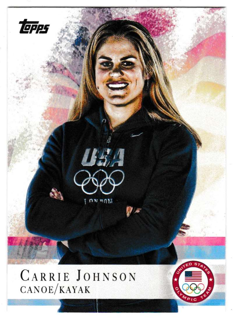 2012 Topps Olympic Team Carrie Johnson #74 card front image
