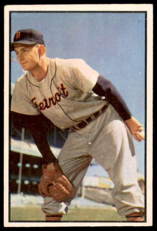 1953 Bowman Color EX-Mt Or Better Ted Gray #72 card front image