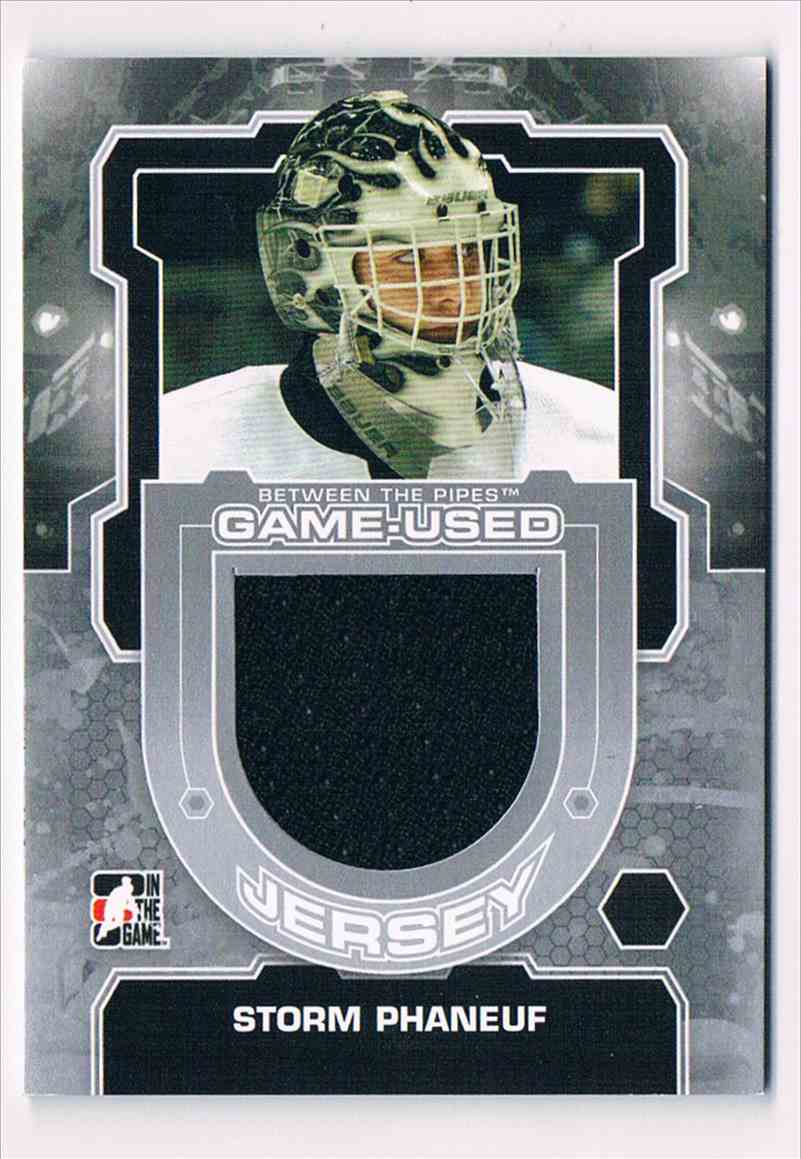 2012-13 In The Game Between The Pipes Storm Phaneuf #M-50 card back image