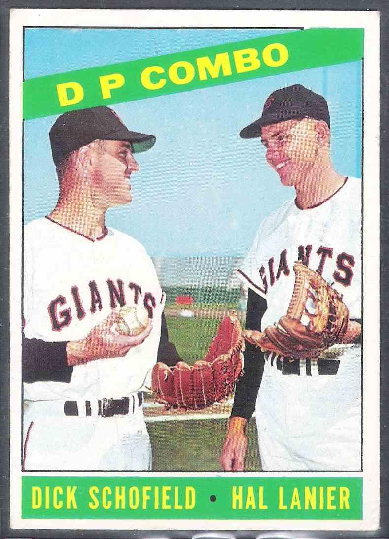 1966 Topps Dp Combo Dock Shofield Hal Lanier #156 card front image