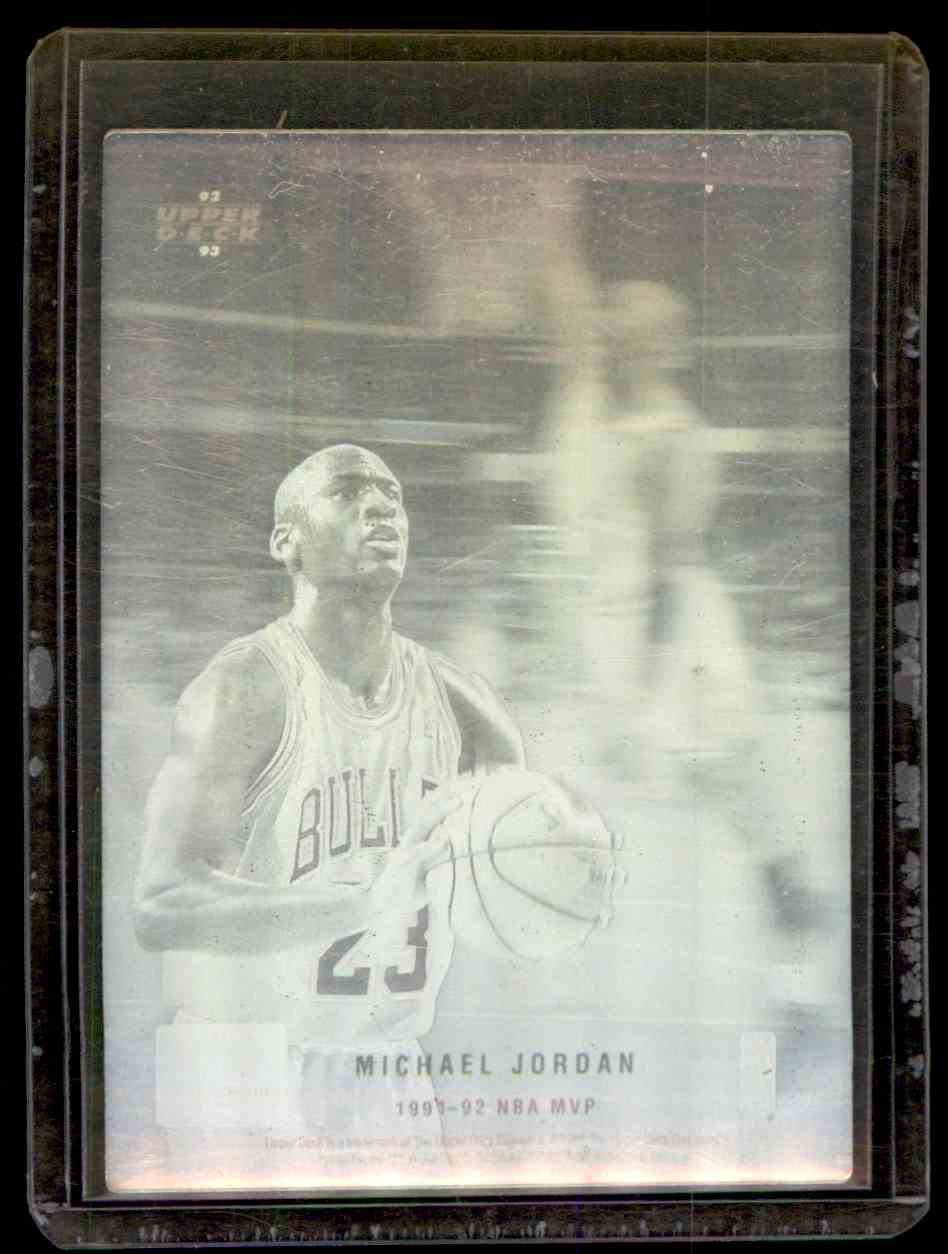 1992-93 Upper Deck MVP Hologram Michael Jordan #4 card front image