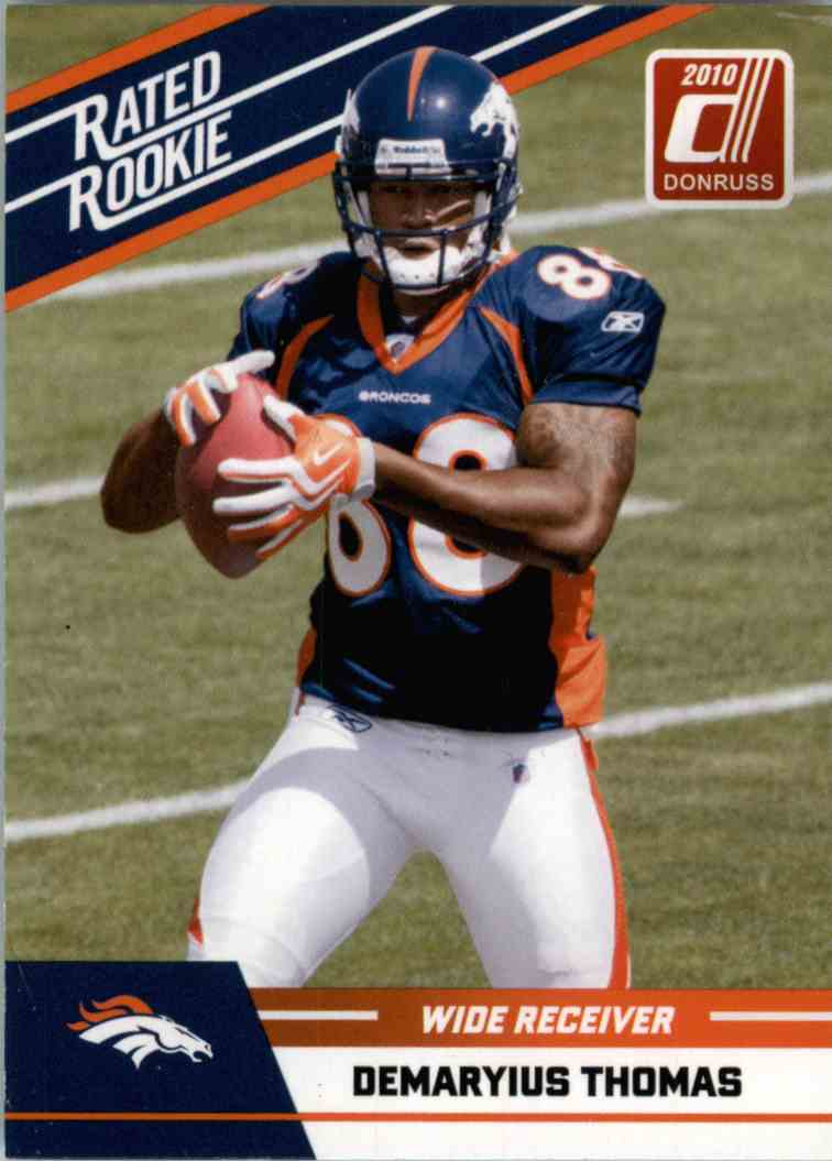2010 Donruss Rated Rookie Demaryius Thomas #27 card front image