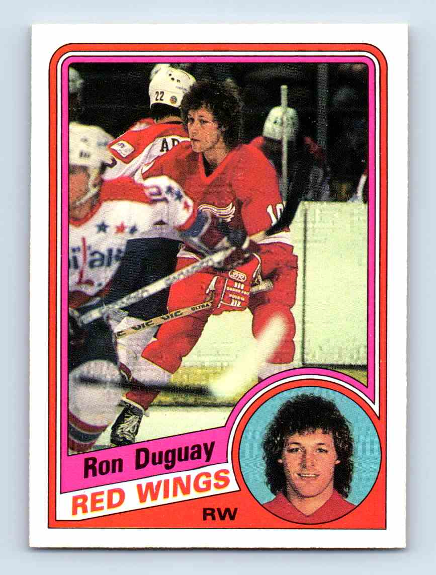 1984-85 O-Pee-Chee Ron Duguay #52 card front image