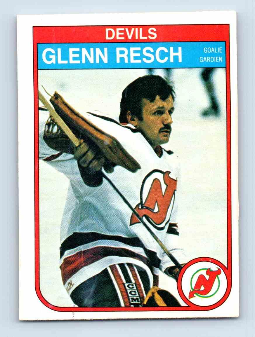 1982-83 O-Pee-Chee Glenn Resch #145 card front image