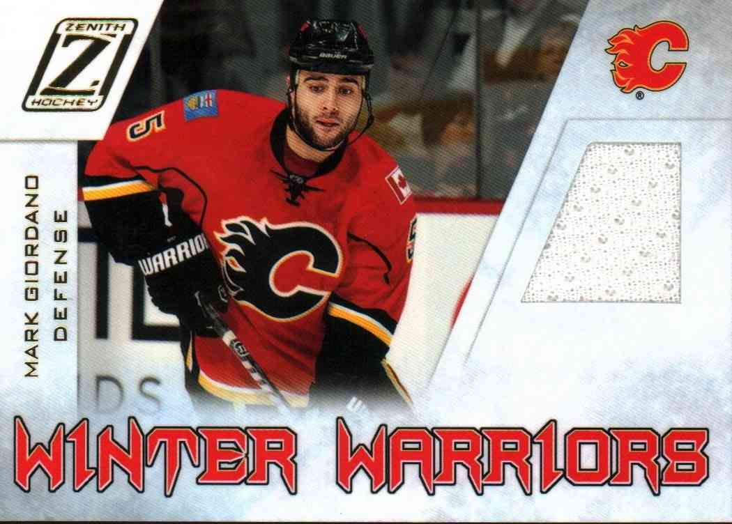 2011-12 Panini Zenith Mark Giordano #MG card front image