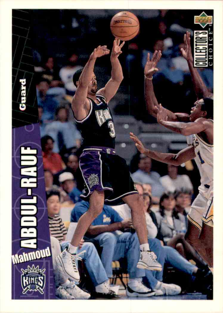 1996-97 Collector's Choice Mahmoud Abdul-Rauf #319 card front image