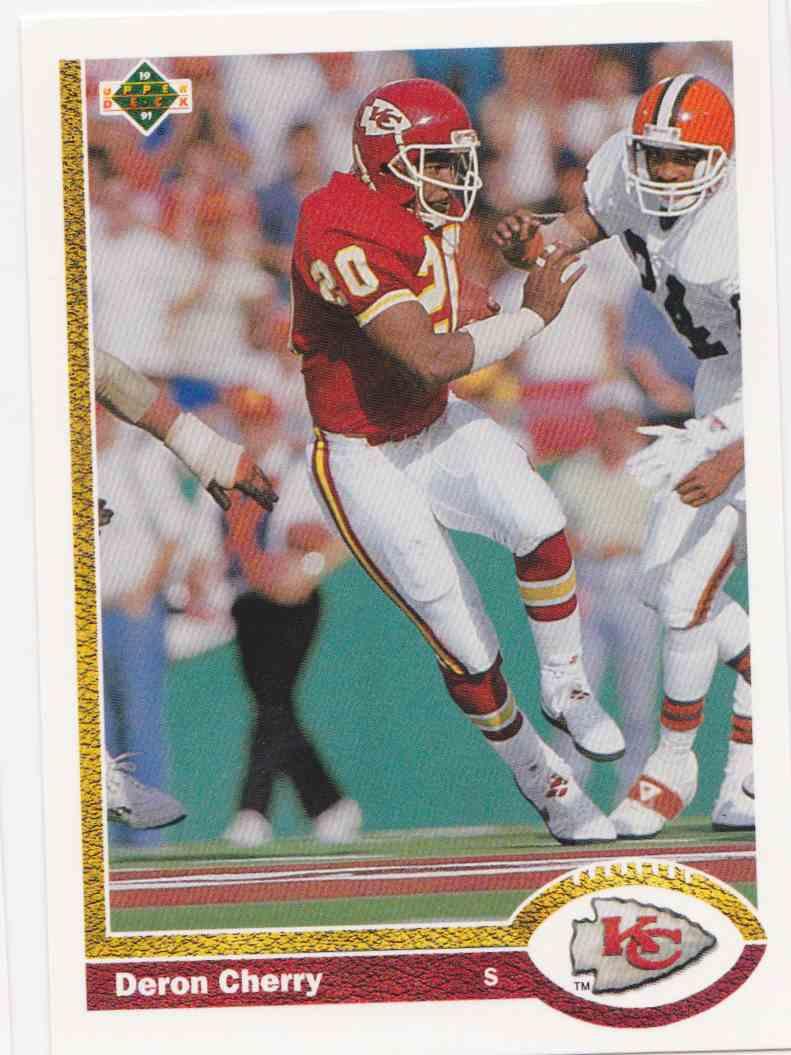 1991 Upper Deck Deron Cherry #374 card front image