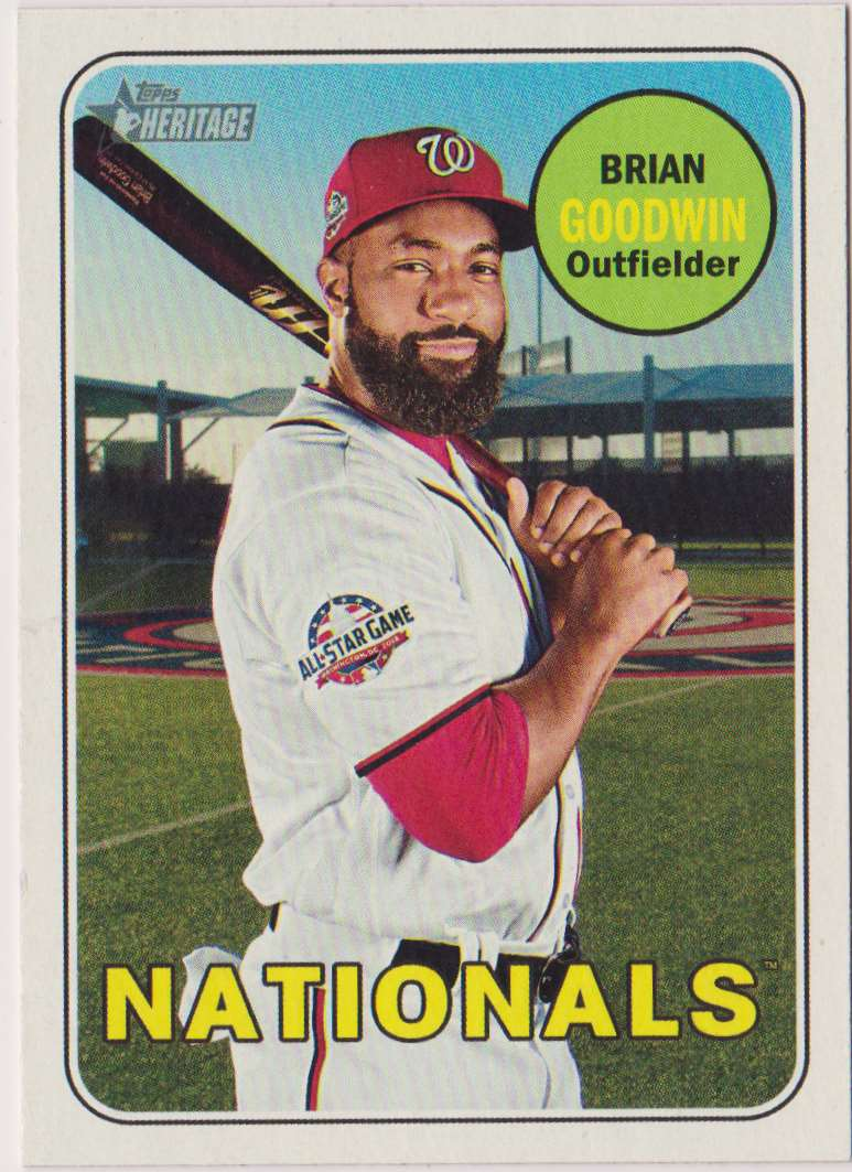 2018 Topps Heritage Brian Goodwin #585 card front image