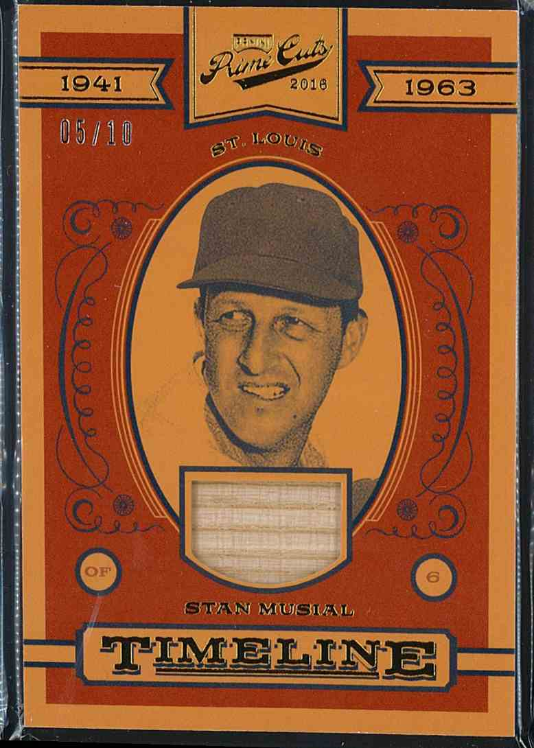 2016 Panini Prime Cuts Timeline Stan Musial #T-SM card front image