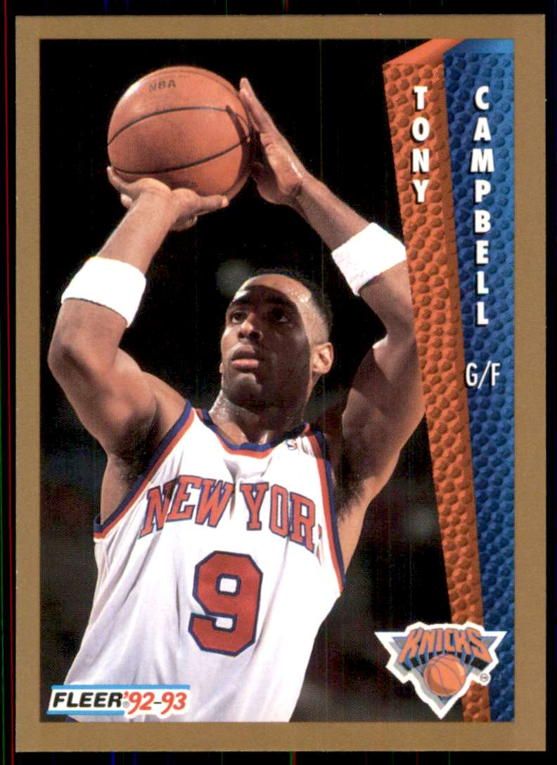 1992-93 Fleer Tony Campbell #394 card front image