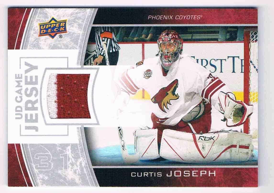 2013-14 Upper Deck UD Game Jersey Serie 1 Curtis Joseph #GJ-CJ card front image