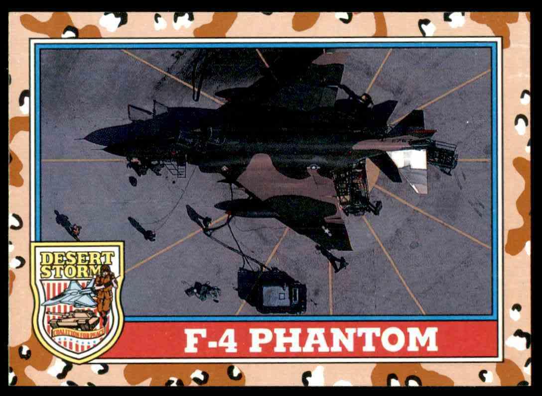 1991 Desert Storm Topps F-4 Phantom #111 card front image