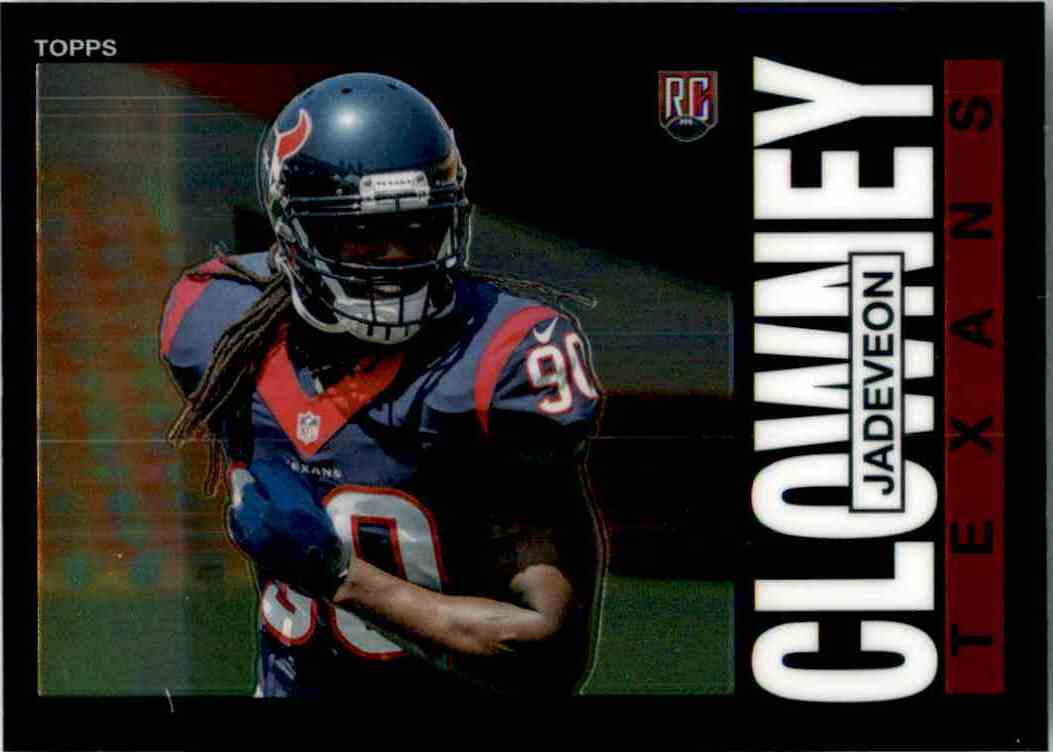 2014 Topps Chrome 1985 Jadeveon Clowney #16 card front image