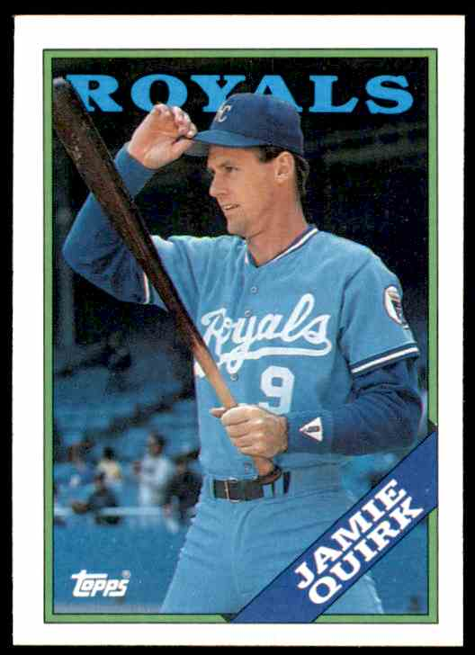 1988 Topps Jamie Quirk #477 card front image
