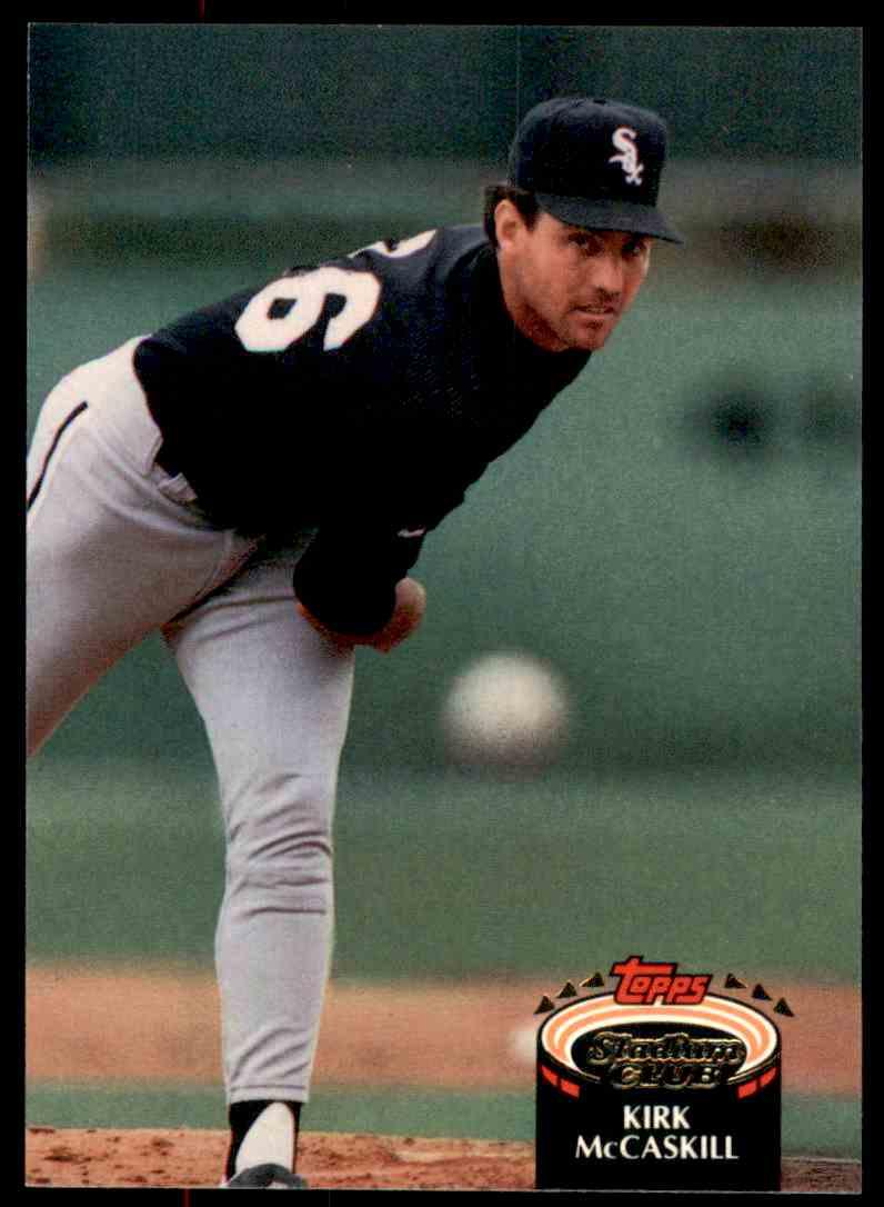 1992 Stadium Club Kirk McCaskill #688 card front image