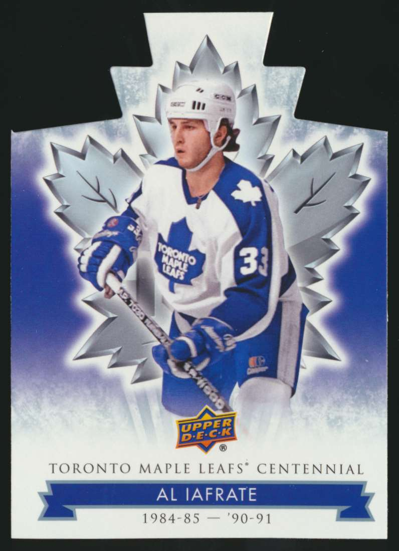 2017-18 UD Maple Leafs Centennial Die Cut Al Iafrate #87 card front image