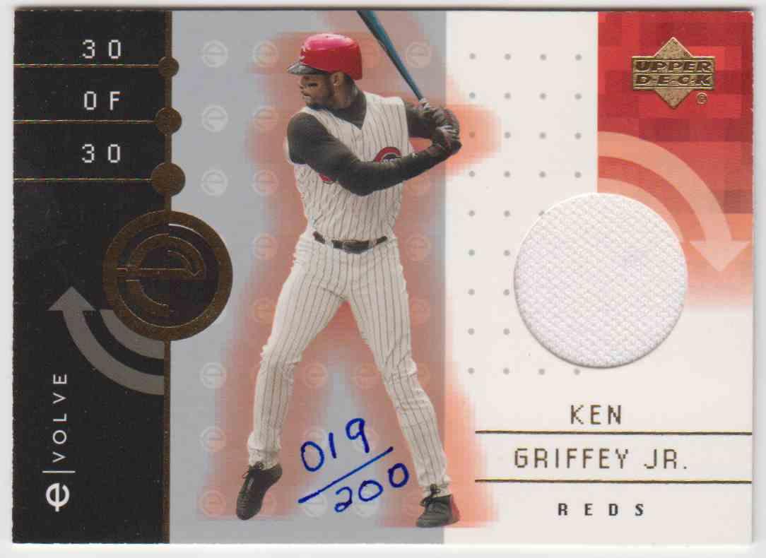 2001 Upper Deck Evolve Game Jersey Ken Griffey JR. #30 card front image
